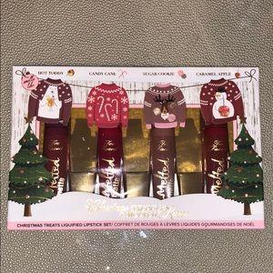 LE Rare Too Faced Christmas Snuggles Liquid Lip